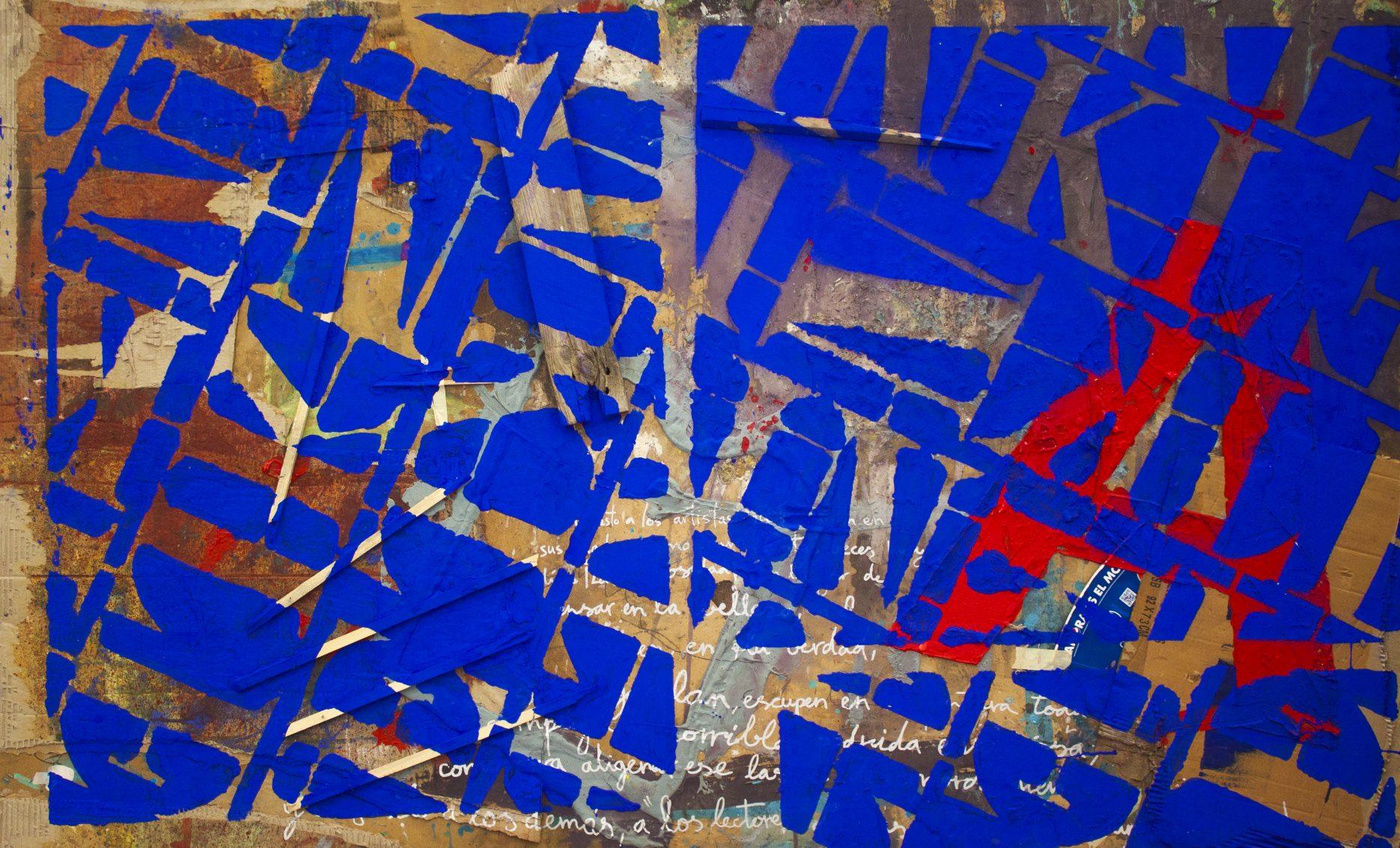 Pintura Patrón aIKB del artista Sánchez del Castillo del proyecto Repetition Ways