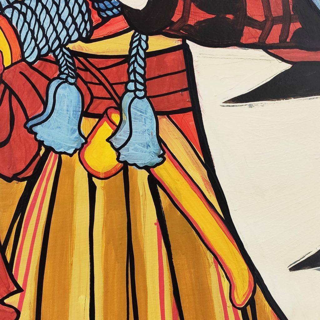 Detalle 03 de la pintura de Fuwa Katsuemon en Bjj Madrid Academy