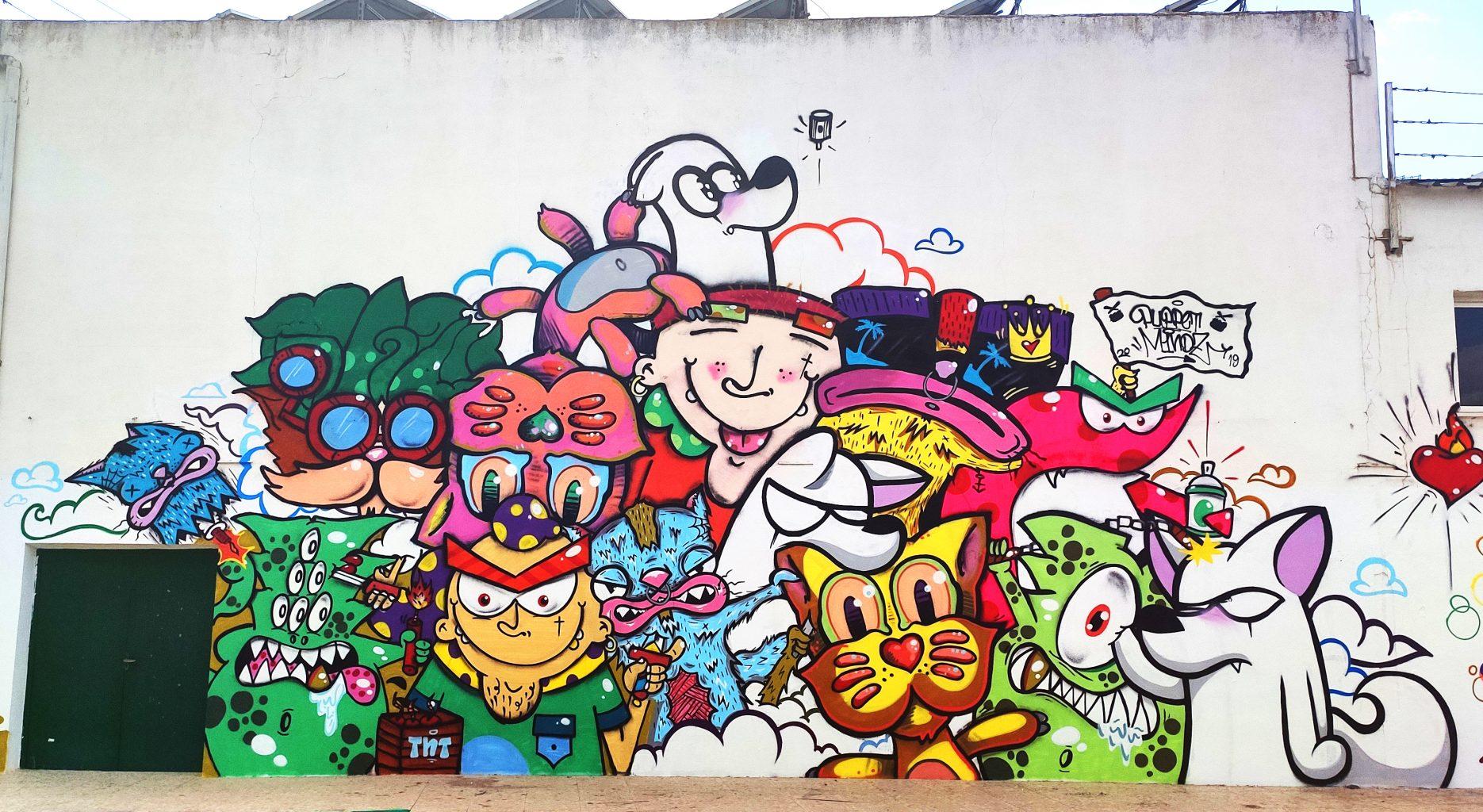 Pintura mural para el evento Sisante Urbano