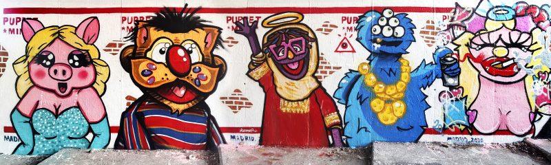 Pintura mural Puppet Mail Muppet
