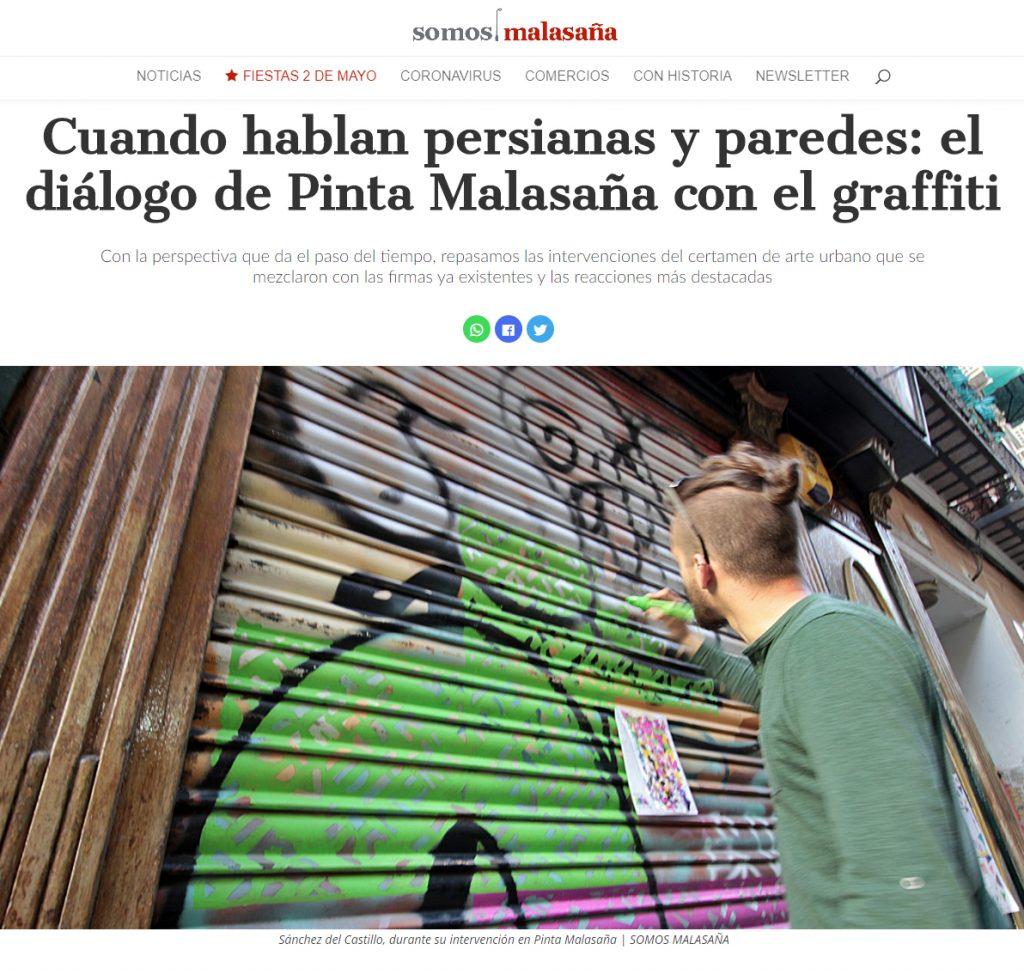 Noticia del periódico digital Somos Malasaña sobre Sánchez del Castillo