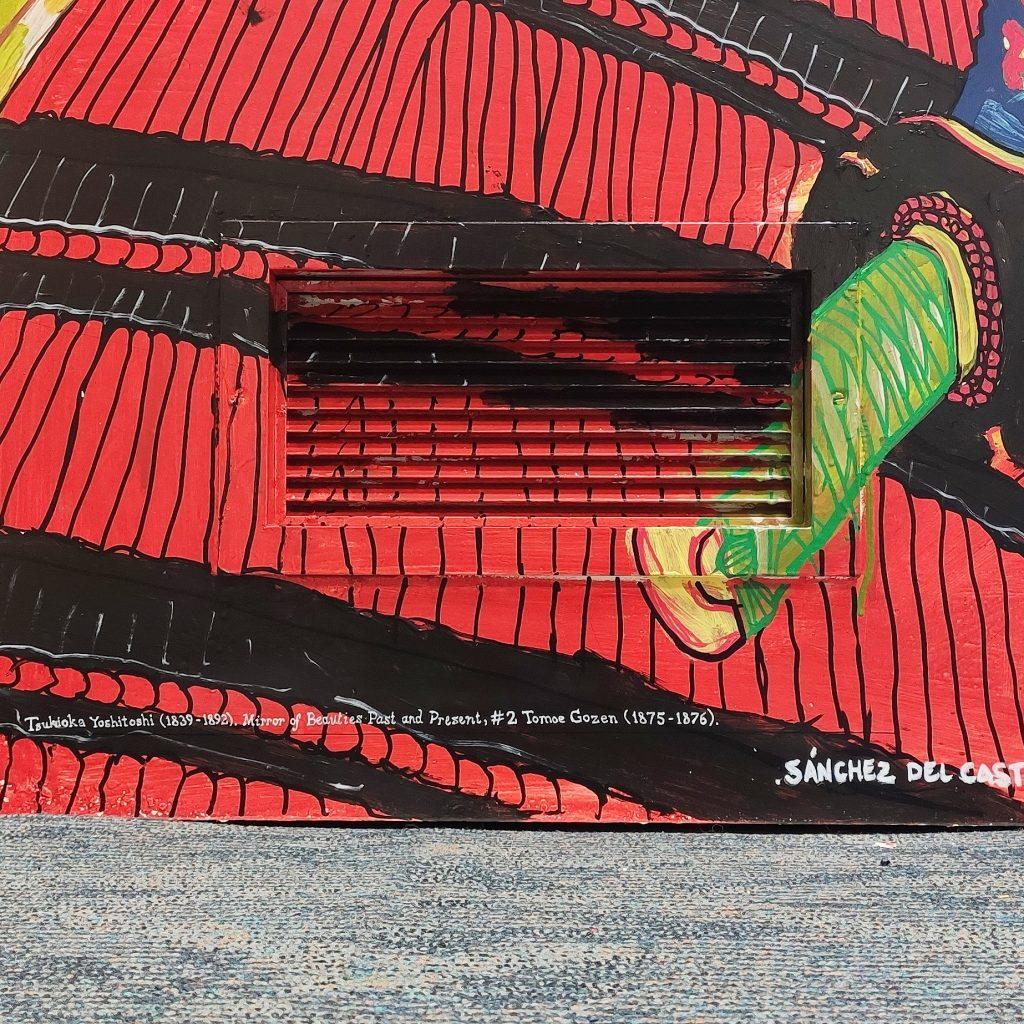 Referencia de la pintura de Tomoe Gozen en Bjj Madrid Academy